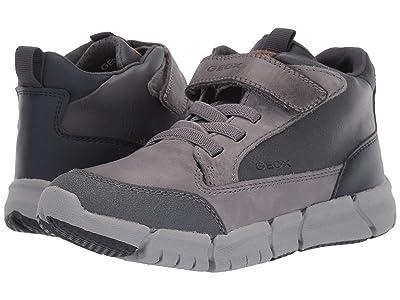 Geox Kids Jr Flexyper 9 (Little Kid/Big Kid) (Dark Grey/Navy) Boys Shoes