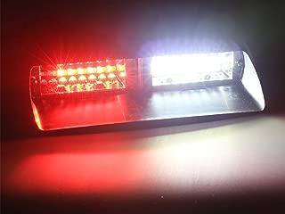 Jackey Awesome Car 16-led 18 Flashing Mode Emergency Vehicle Dash Warning Strobe Flash Light (Red & White)