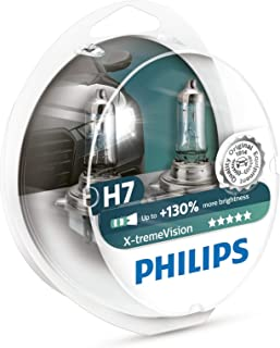 Philips X-treme Vision +130% Headlight Bulbs (Pack of 2) (H7 55W) (Renewed)