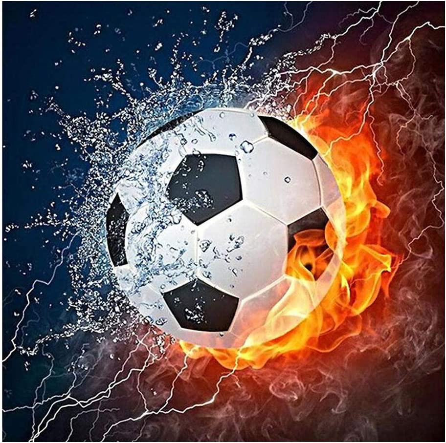 Opening large release sale New Orleans Mall Hot Football 5D Round Shaped Needlew Painting Diamond Embroidery