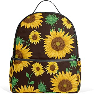 Vdsrup Sunflower Tropical Flower Daisy Backpack Autumn Sunflower School Bookbags Daypack Bags Water Resistant Travel Computer Notebooks Bookbag for Men Women Kids Boys Girls