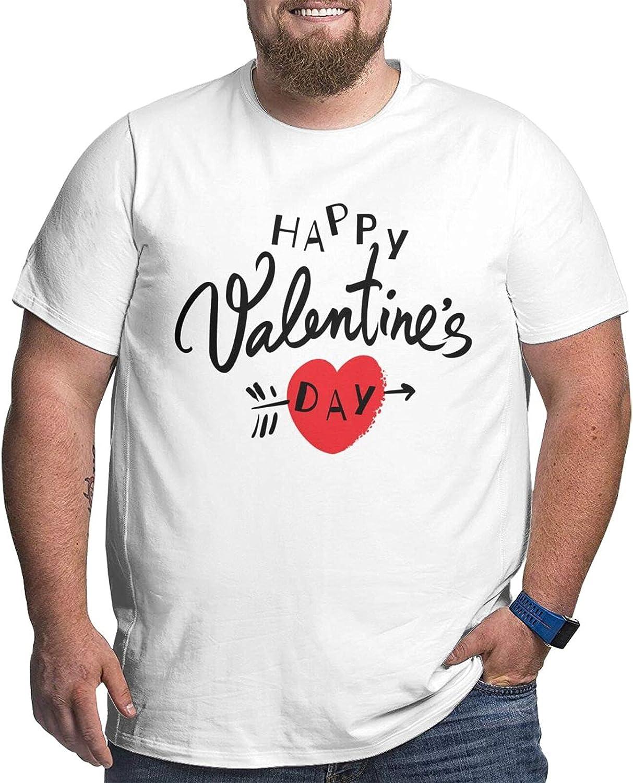 Happy Valentine's Day Logo Mans Simple Big Size Summer Outdoor Short Sleeve Tshirts