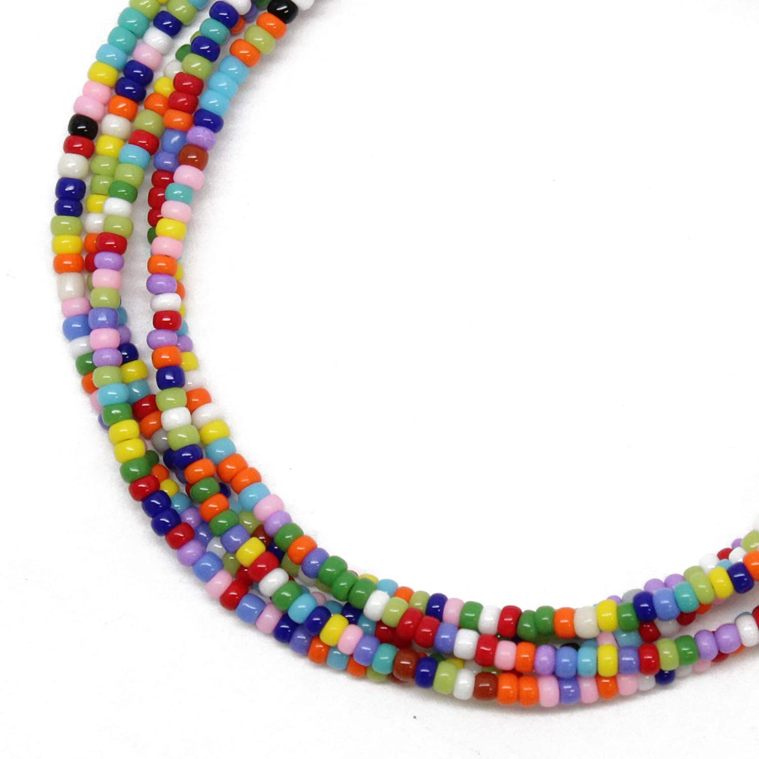 Multi Color Seed Bead Virginia Beach Mall Necklace S Small of Rainbow Single Louisville-Jefferson County Mall