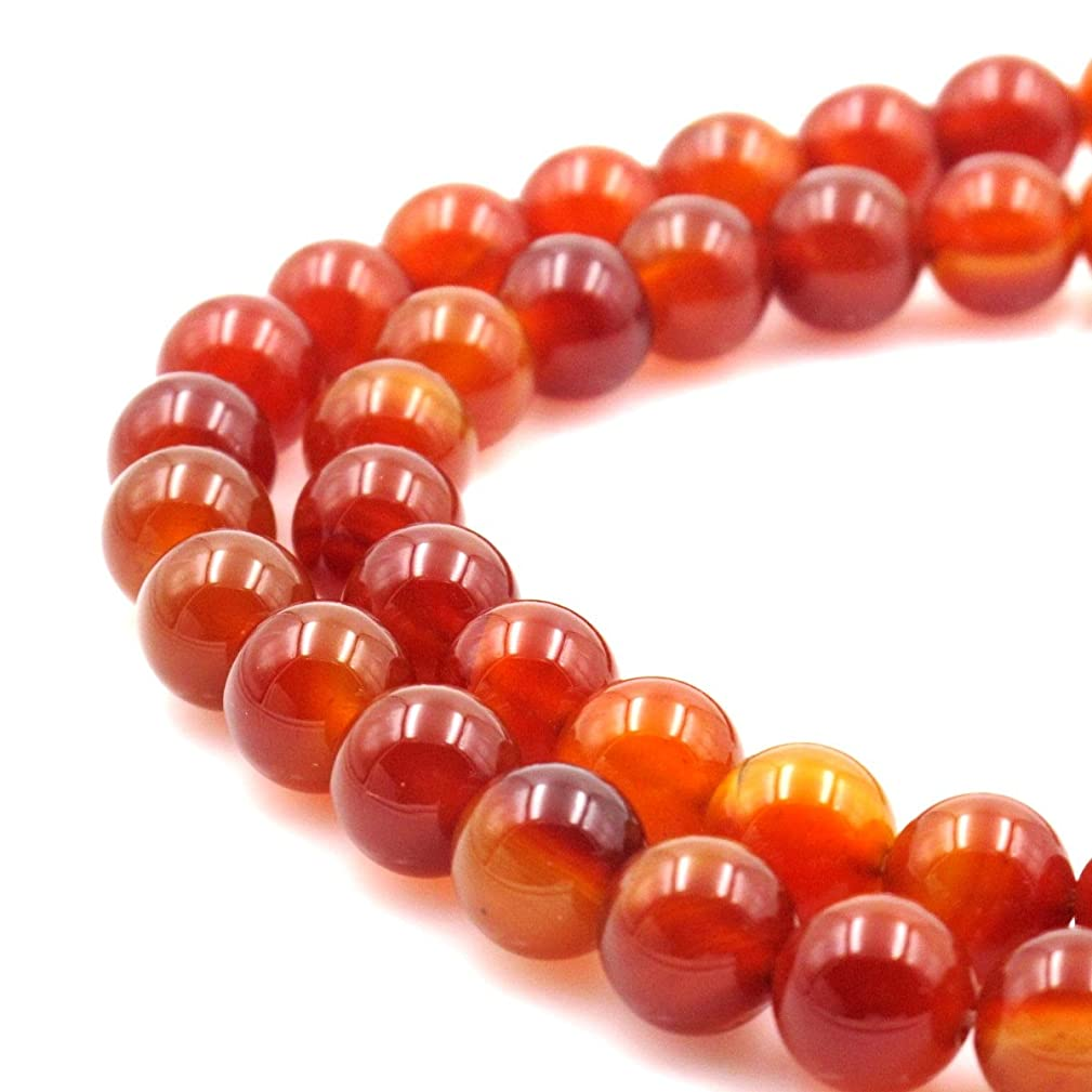 BRCbeads Gorgeous Natural Red Carnelian Gemstone Round Loose Beads 12mm Approxi 15.5 inch 30pcs 1 Strand per Bag for Jewelry Making