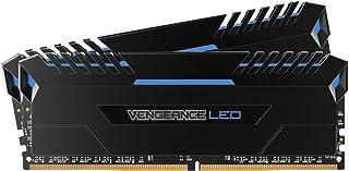 Corsair Vengeance LED - Kit de Memoria Entusiasta de 32 GB (2 x 16 GB, DDR4, 3200 MHz, C16, XMP 2.0) Negro con Azul LED iluminación