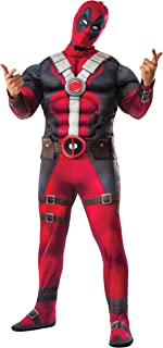 Rubie's Men's Deadpool Plus Deluxe Muscle Chest Costume and Mask