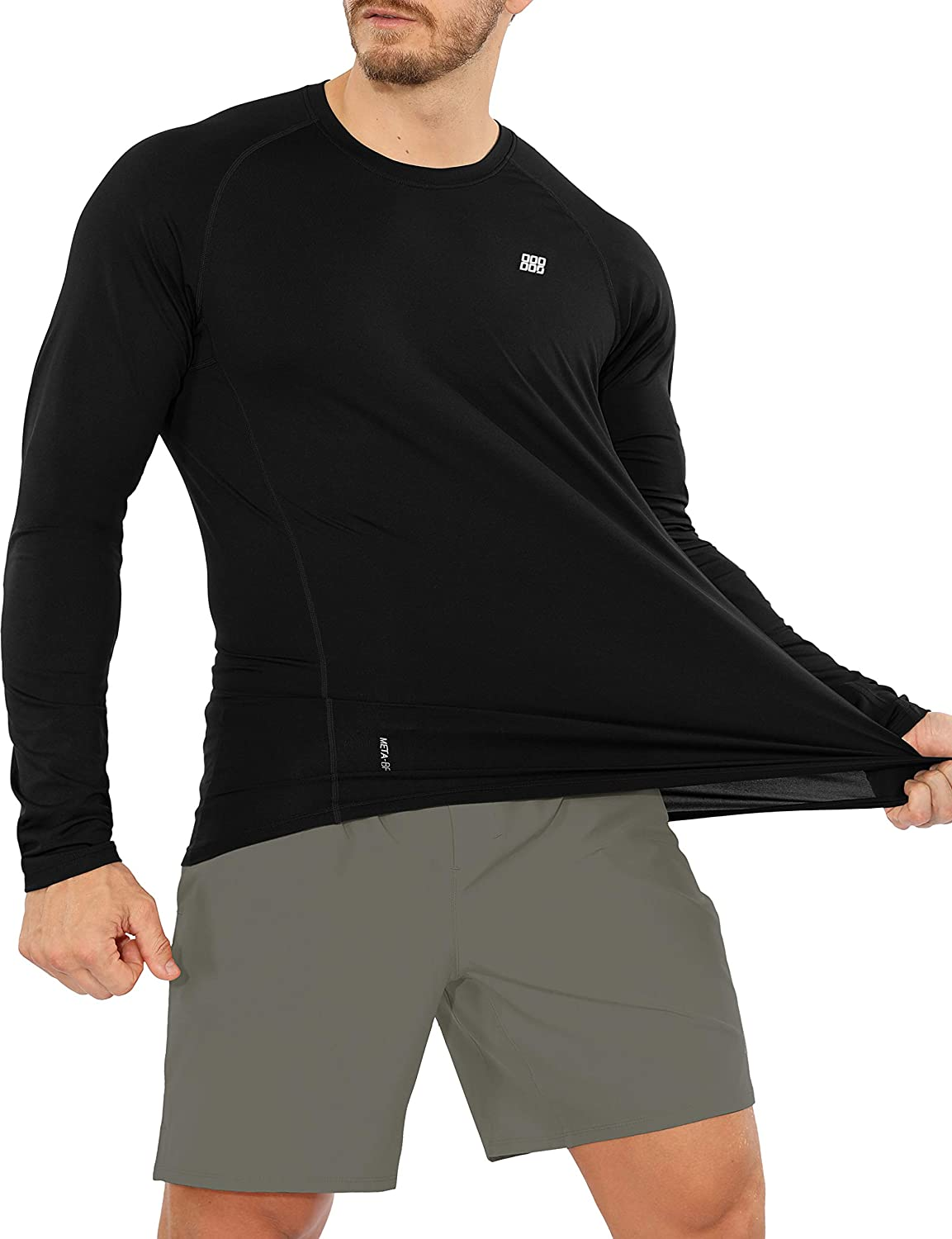 ODODOS Men's Long Dallas Mall Sleeve Fitted Athletic UPF Max 59% OFF 50+ Pr Sun T-Shirts