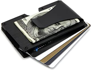 RFID Blocking Front Pocket - Aluminum Slim Wallet/Travel Money Clip Credit Card Holder