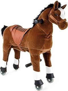 Small Foot 9409 - Caballo de equitación (con Ruedas y dirección para Movimiento en Interiores y Exteriores, a Partir de 5 años)