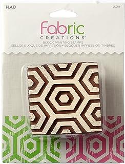"Plaid Fabric Creations""Hex Honeycomb"" Stamp, Resin, Brown, Medium, 6 x 6 cm"