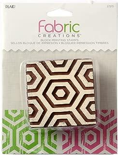 Fabric Creations Block Printing Stamps, 27213 Medium Hex Honeycomb