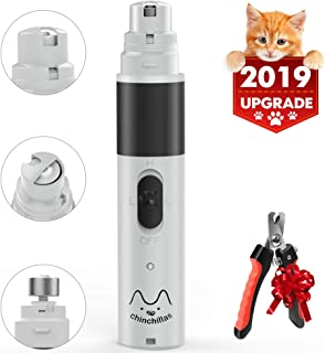 Dog Nail Grinder Pet Nail Trimmer Clipper with 2 Speed Electric Grooming Kit for Dogs Cats Quiet & Rechargeable Gentle Painless Paws Trimming Shaping and Smoothing for Small Medium Large Pet