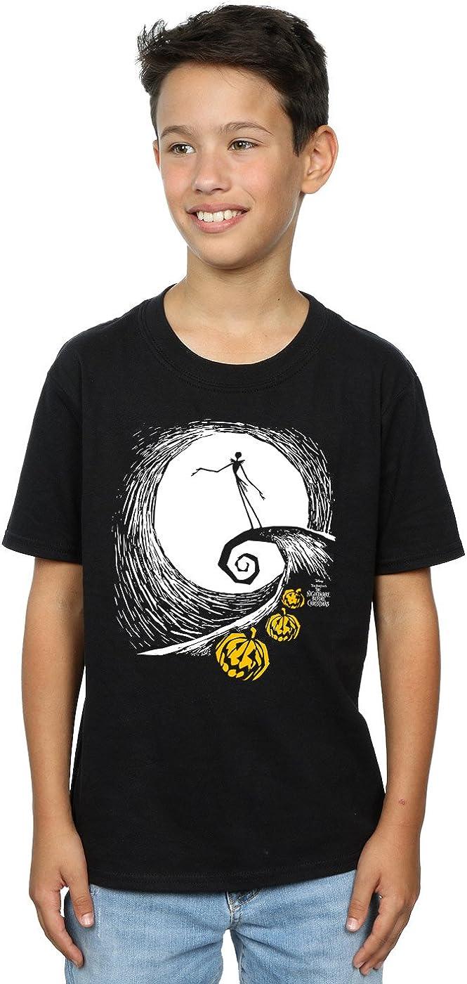 Disney Boys Nightmare Before Christmas Jack's Lament T-Shirt 9-11 Years Black
