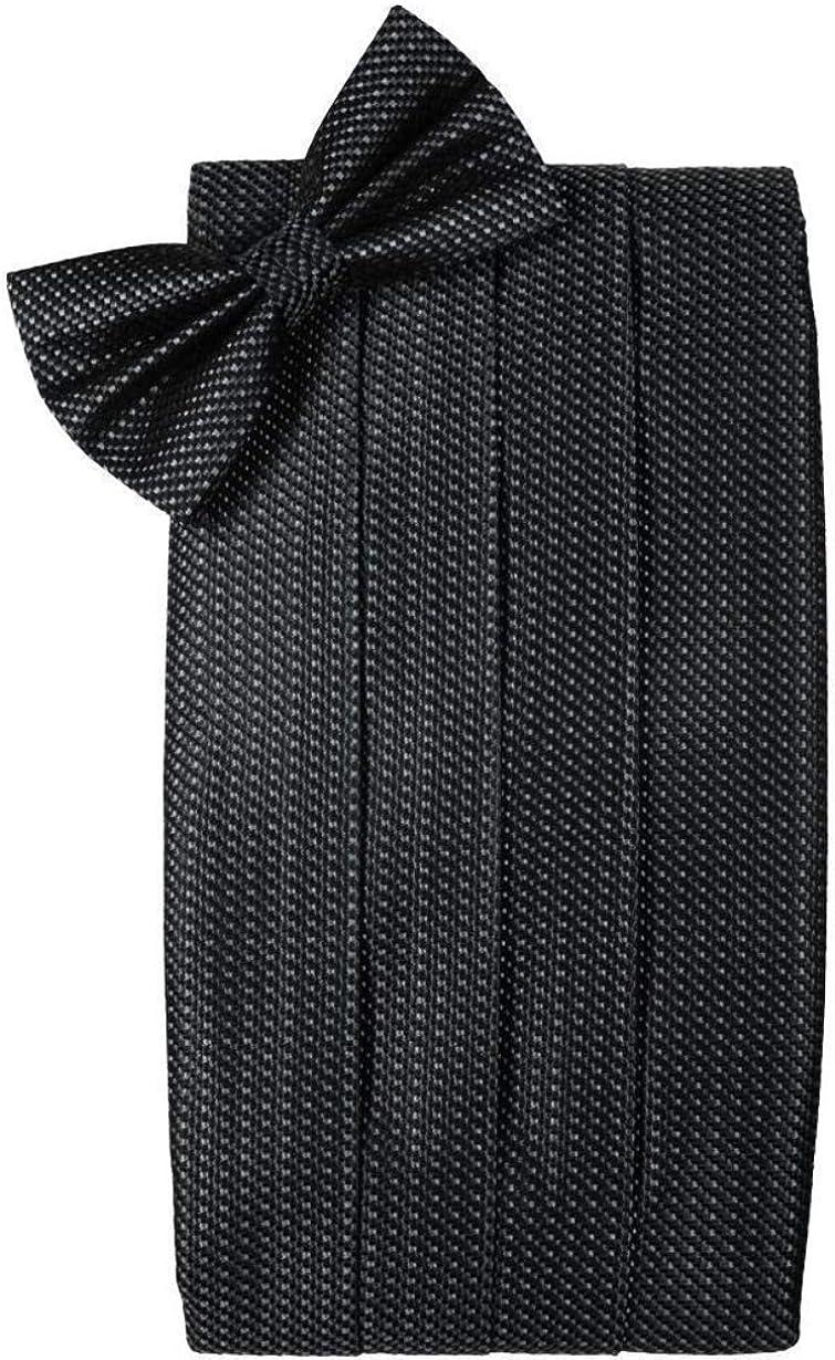 Silk Weave Asphalt Tuxedo Cummerbund and Bow Tie