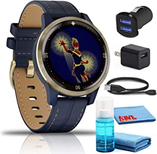 Garmin Legacy Hero Captain Marvel Smartwatch (40mm) Kit with USB Adapters and 6Ave Cleaning Kit