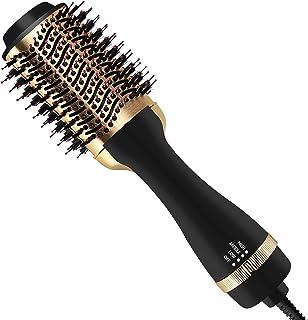 Hair Dryer Brush, Hot Air Brush, Hair Dryer Styler & Volumizer 3-in-1 Brush for Hair Fast Drying, Straightening and Curlin...