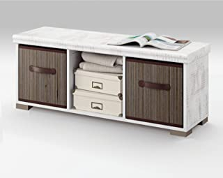 Mueble Auxiliar de almacenaje con Dos cestas para Comedor salón habitación o recibidor de Medida 102x33
