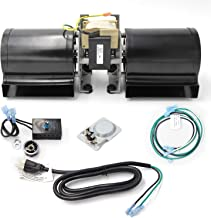 Hongso Replacement Fireplace Blower Fan Kit with Ball Bearings Motor for Heat N Glo GFK-160A, Hearth and Home, Quadra Fire, GTI, Fasco, Regency Wood Stove Insert, Royal GFK-160, Jakel, Nordica, Rotom
