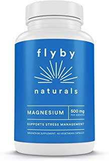 Premium Magnesium Citrate Capsules (500 mg - 60 Servings) – High Absorption & Pure Mag Oxide & Citrate Supplement for Sleep, Leg Cramps, Muscle Relaxation, Energy & Natural, Calm, Relaxation, Stress