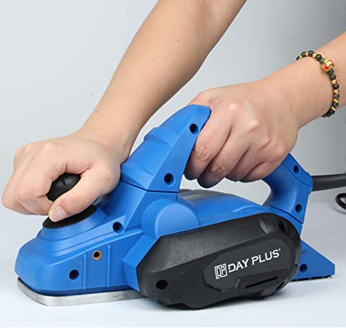 2021 Electric Hand Planer Lightweight Wood Planer with 6ft outlet sale Cable, 650W 18000RPM 3-1/4 Inch Width and 5/64 Inch Adjustable Cutting Depth, Self-Locking new arrival Switch, Includes Parallel Guide, Dust Bag, Wrench online