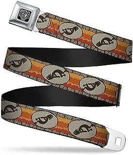 Seatbelt Belt - Kokopelli Icon/Western Tan/Brown/Reds - 1.5