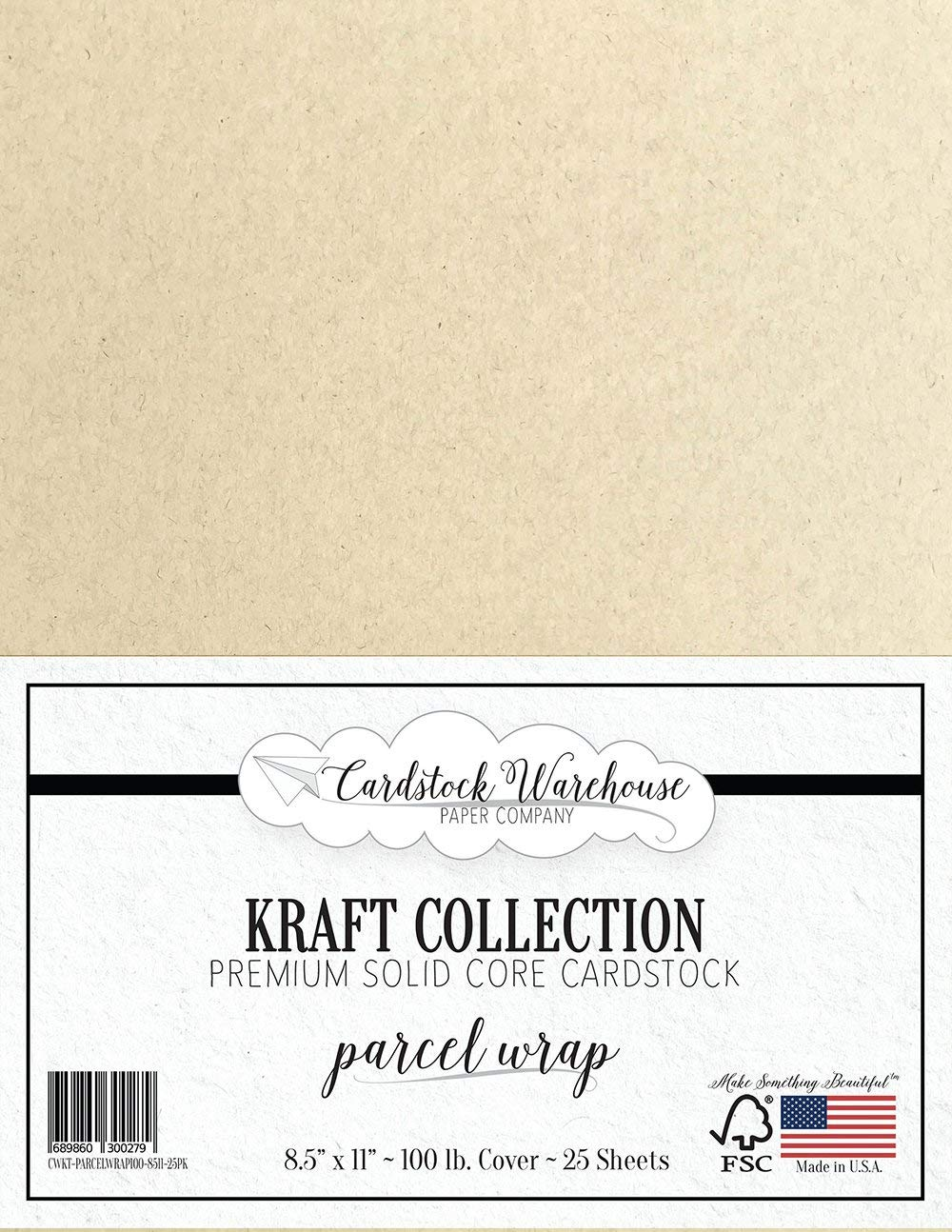 12 x 12 Premium 100 LB Paper Bag Kraft Recycled Cardstock 25 Sheets from Cardstock Warehouse Cover