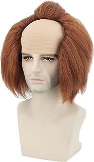Topcosplay Adults or Kids Halloween Costume Wigs Brown Bald Head Cosplay Wig