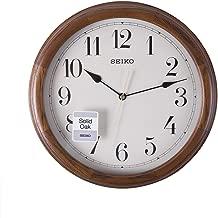 Seiko Wall Clock (32 cm x 32 cm x 4 cm, Brown, QXA153BN)