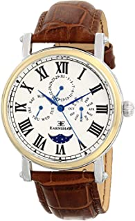 Thomas Earnshaw Men's ES-8031-02 Maskelyne Two-Tone Stainless Steel Watch with Brown Genuine Leather Band