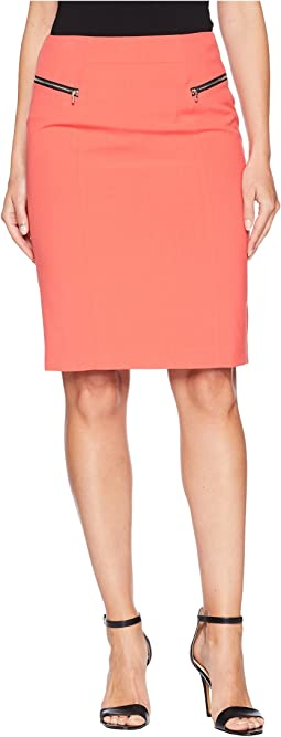 Bi Stretch Skirt with Zippers