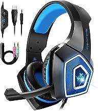 Bovon Cascos Gaming, Auriculares PS4 con Micrófono