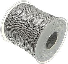 My-Bead 90m Nylonband Kordel 1mm Silber wasserfest Nylonschnur Top Qualität Schmuckherstellung basteln DIY Grundpreis 0.13 Cent je Meter