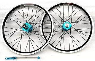 LYzpf Montaña Llantas Bicicleta Rueda Perfil Delantera Trasera Bici Rim Conjunto 20 Inch V Freno Accesorios de Equipamiento Aleación Aluminio