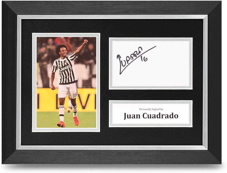Juan Cuadrado Signed A4 Framed Photo Display Juventus Autograph Memorabilia +COA