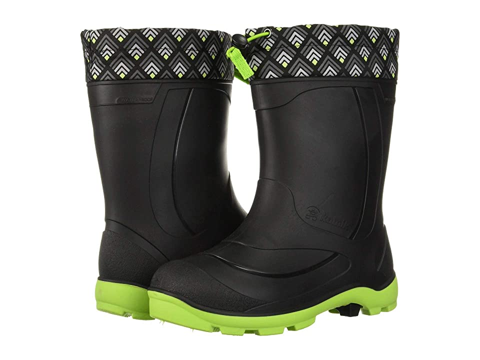 Kamik Kids Snobuster 2 (Toddler/Little Kid/Big Kid) (Black/Lime) Kids Shoes