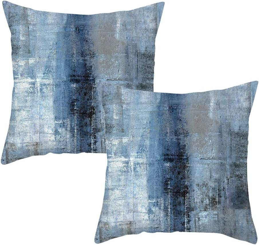 Shalmor Throw Sale Pillow Covers 18x18 Set 2 Blue Couch Sales for sale Decorative of