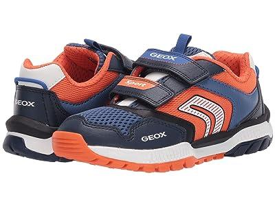 Geox Kids Tuono 1 (Little Kid/Big Kid) (Navy/Orange) Boy