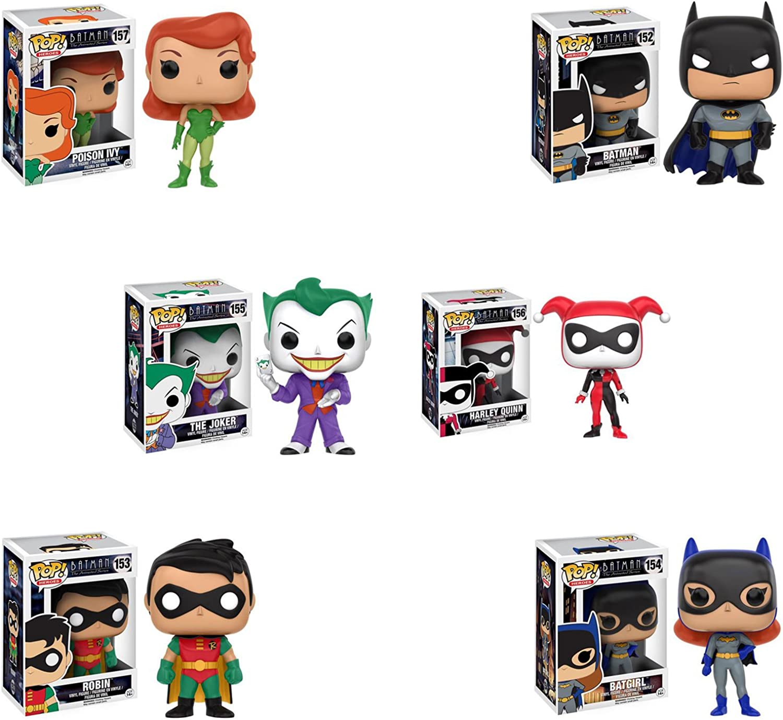 Pop  Heroes  Batman the Animated Series Batman and Robin, Batgirl, The Joker, Harley Quinn, and Poison Ivy  Set of 6
