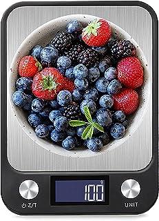 ميزان المطبخ الرقمي للطعام، مقياس متعدد الوظائف بالجرامات للطهي، 1 جم لتخرج دقيق، مقياس إلكتروني عالي الدقة مع شاشة LCD