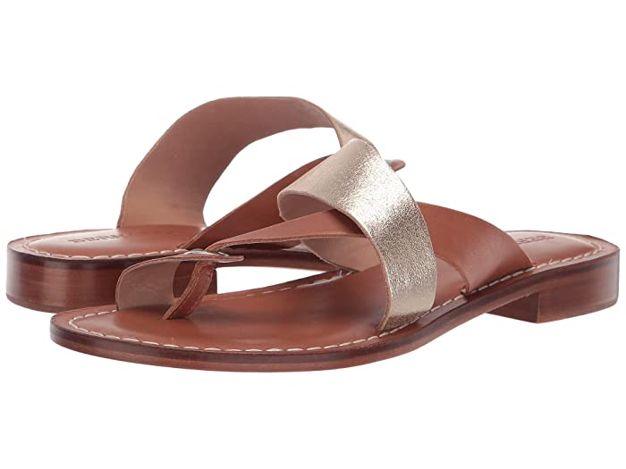 Bernardo  Tia Sandal (Distressed Platinum/Luggage) Womens Sandals