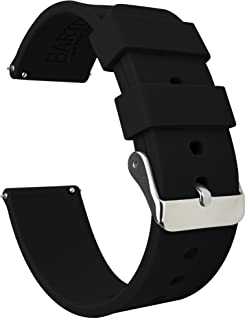 BARTON Watch Bands - Soft Silicone Quick Release Straps - Choose Color & Width - 16mm, 18mm, 20mm, 22mm, 24mm - Silky Smooth Rubber Watch Bands