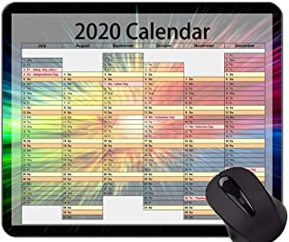 Calendar 2020 Year Mouse Pads Customized, Colorful and Colorful Mouse Pads