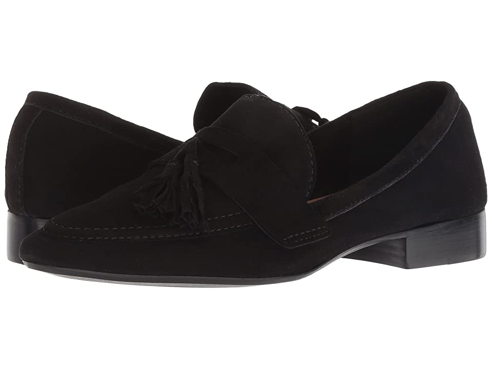French Sole Chime Loafer (Black Suede) Women