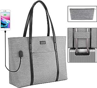 Laptop Tote Purse Large, Business Women Work Bag Teacher Tote Bag Many Pockets