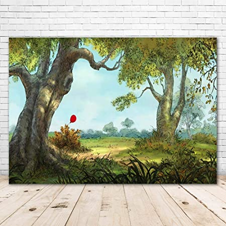 8x6ft Doodle Guitar Hand-Painted Man and hat Tree Shine Moon Green Grassland Creative Wallpaper Baby Photo Studio Props Birthday Party Wallpaper Photo Studio Wedding Cloth Family Portrait Cloth
