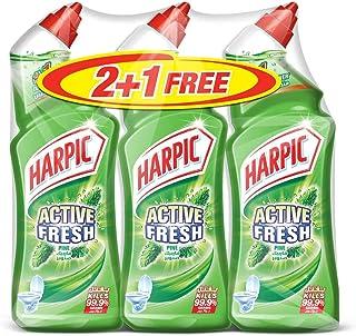 Harpic Toilet Cleaner Liquid Active Fresh Pine, 750ml 2+1 Free