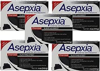 Asepxia - Jabón de barra de limpieza con efecto purificador de carbón, 4 onzas, paquete de 5