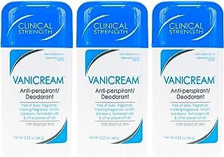 VANICREAM Anti-perspirant Deodorant Clinical Strength for Sensitive Skin, 2.25 Oz (Pack of 3)
