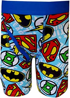 0b1e3a598166c Fruit of the Loom Boys' DC Comics Justice League Logo Size 4 Boxer Briefs