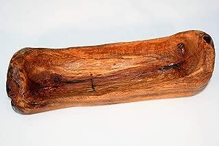 Small Rustic Live Edge Oak Baguette Wooden Dough Bowl